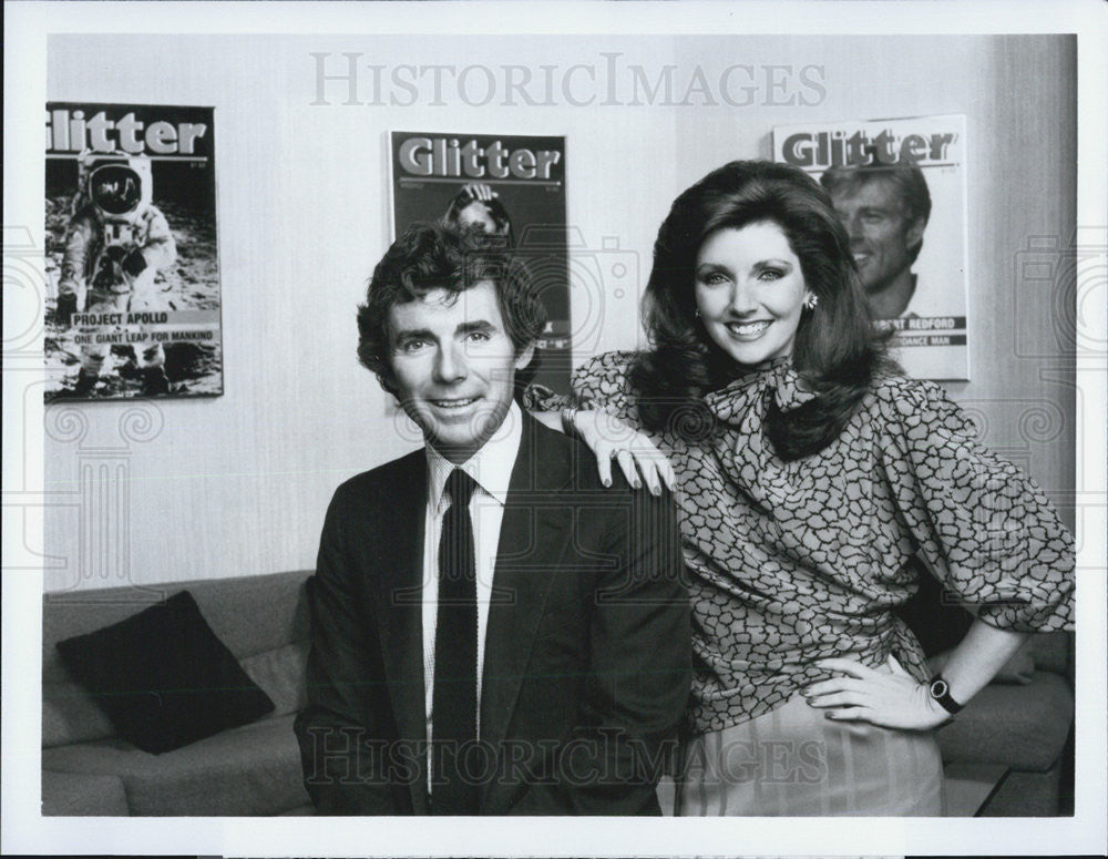 "Press Photo of David Birney and Morgan Brittany in TV series ""Glitter"" - Historic Images"