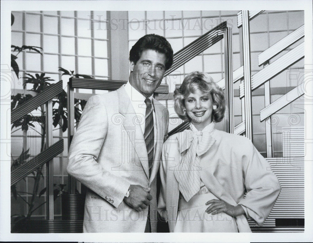 "1984 Press Photo Actors Christopher Mayer And Dianne Kay In TV Series ""Glitter"" - Historic Images"