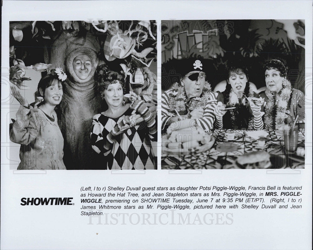 "Press Photo Shelley Duvall, Francis Bell, Jean Stapleton in ""Mrs. Piggle-Wiggle: - Historic Images"