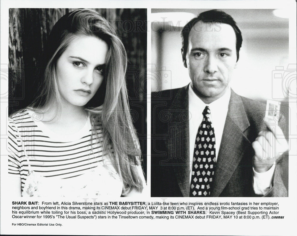 Press Photo of Alicia Silverstone and Kevin Spacey - Historic Images