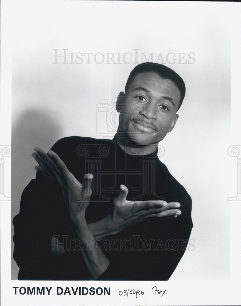 1996 Press Photo Tommy Davidson - Historic Images