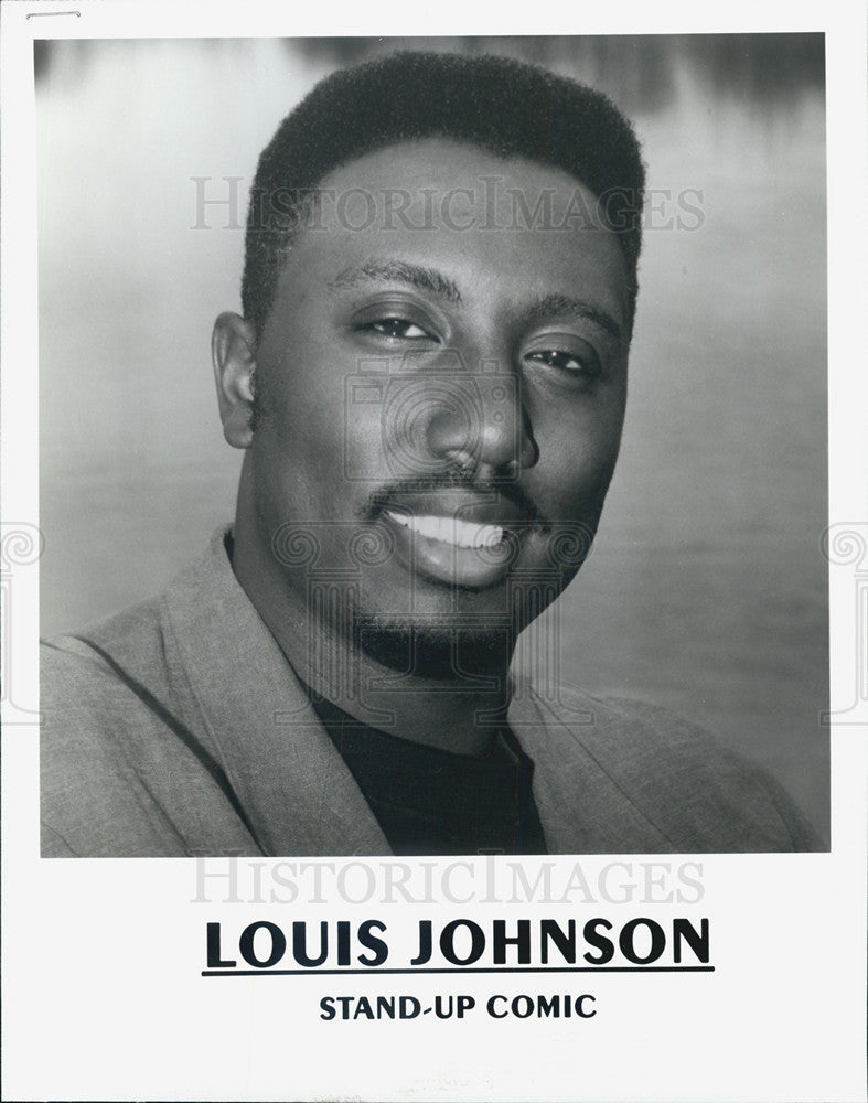 Press Photo Louis Johnson, Stand Up Comic. - Historic Images