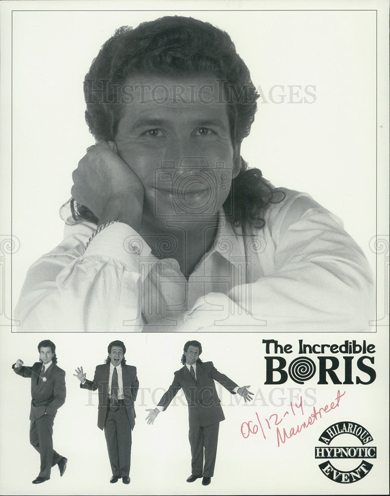 Press Photo The Incredible Boris entertainer - Historic Images