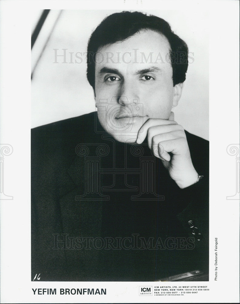 Press Photo Yefim Bronfman Musician - Historic Images