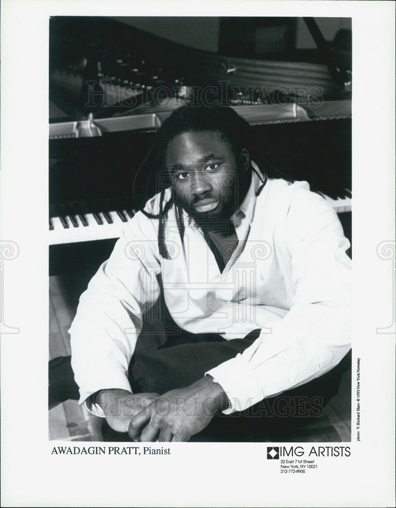 1993 Press Photo Awadagin Pratt, pianist. - Historic Images