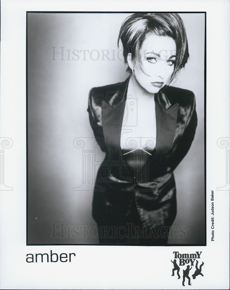Press Photo Singer Amber of Tommy Boy - Historic Images