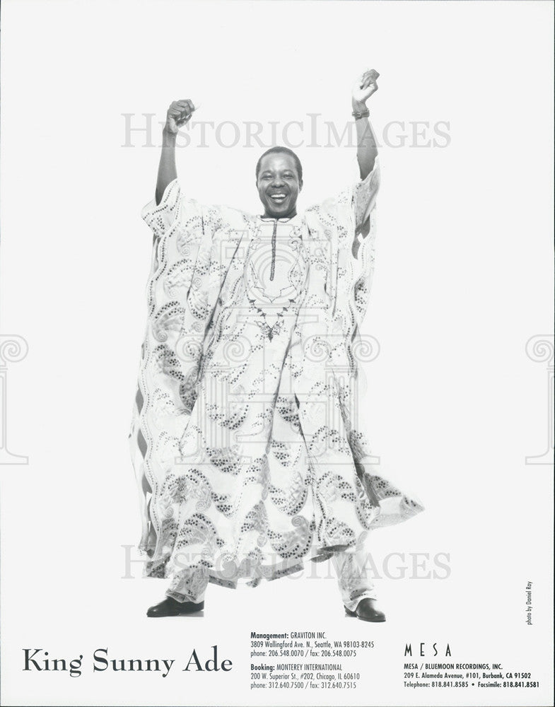 Press Photo King Sunny Ade - Historic Images