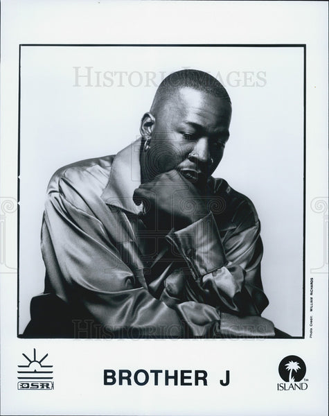 Press Photo Brother J Musician - Historic Images