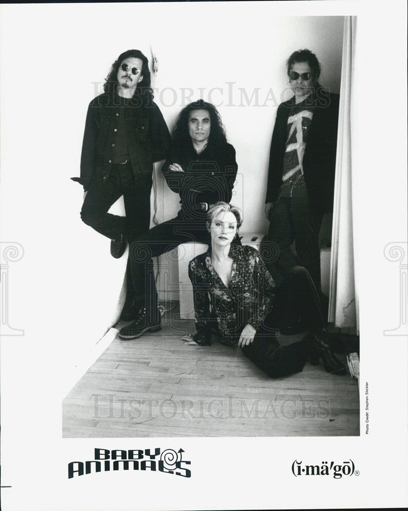 1990 Press Photo Baby Animals, music group. - Historic Images