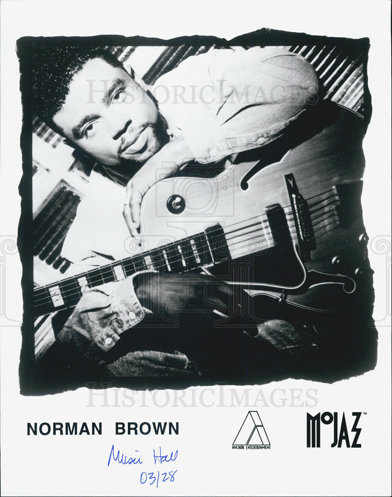 Press Photo Norman Brown, guitarist. - Historic Images