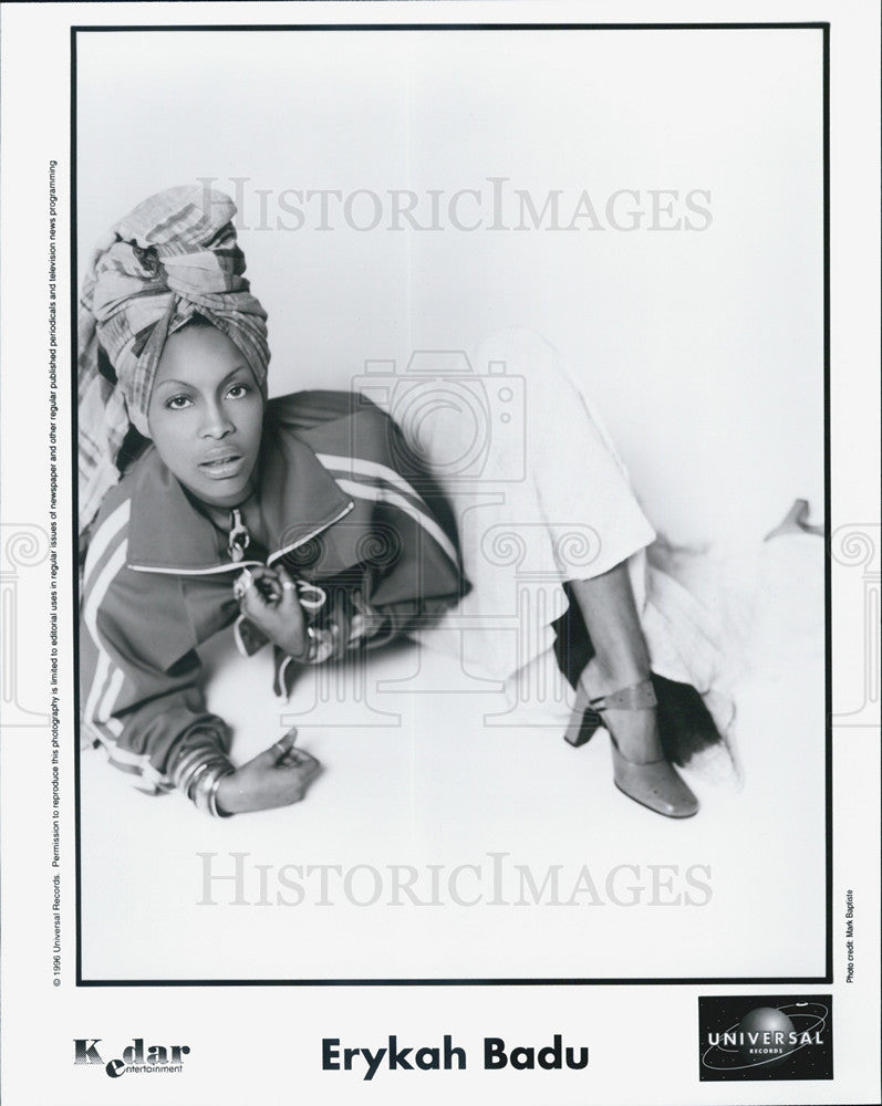 1996 Press Photo Entertainer, Erykah Badu - Historic Images