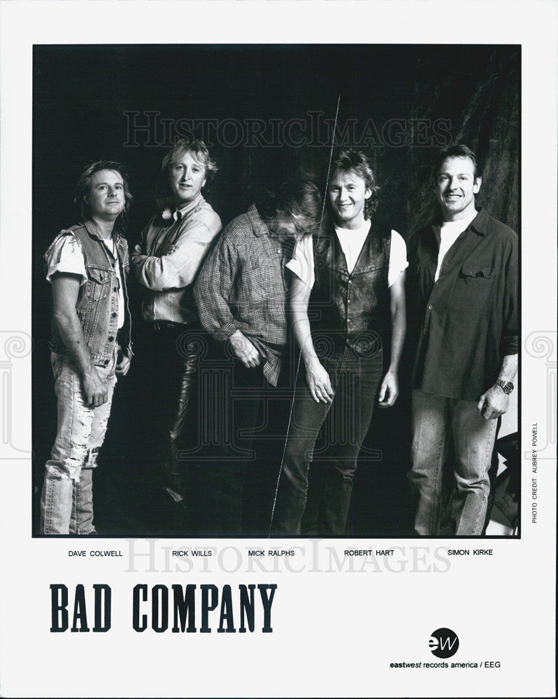 "Press Photo ""Bad Company"" rock band, Dave Colwell, Rick Wills, Mick Ralphs, - Historic Images"