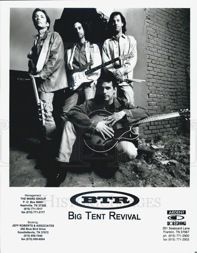 Press Photo Big Tent Revival Musicians Artist - Historic Images