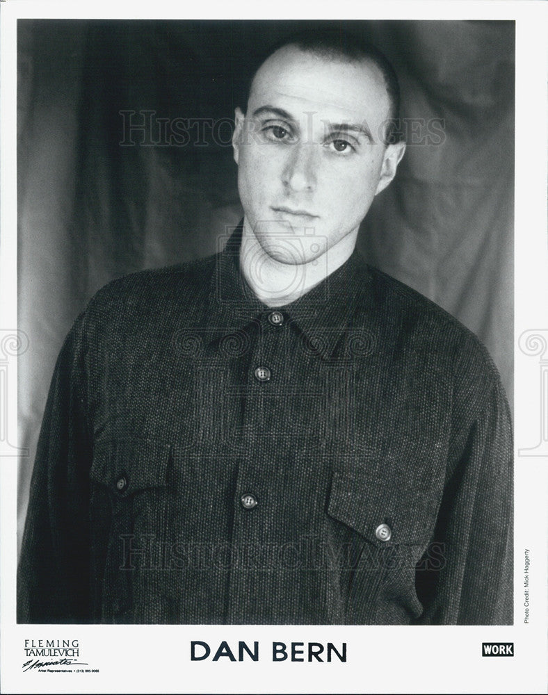 Press Photo Dan Bern Musician - Historic Images