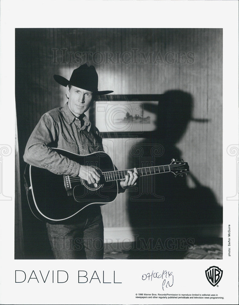 1996 Press Photo David Ball Musician - Historic Images