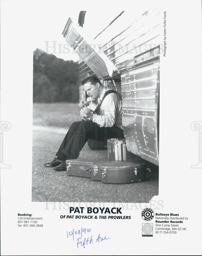 1996 Press Photo Pat Boyack & the Prowlers - Historic Images