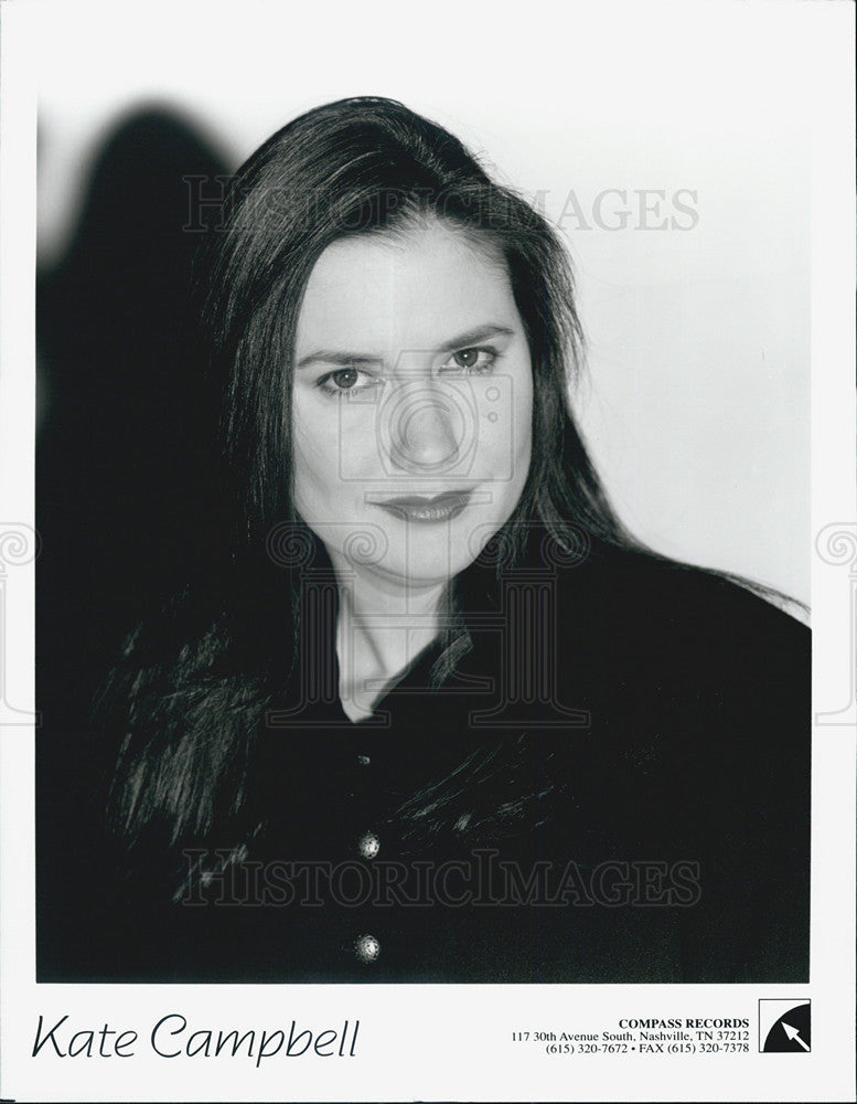 Press Photo Kate Campbell Musician - Historic Images