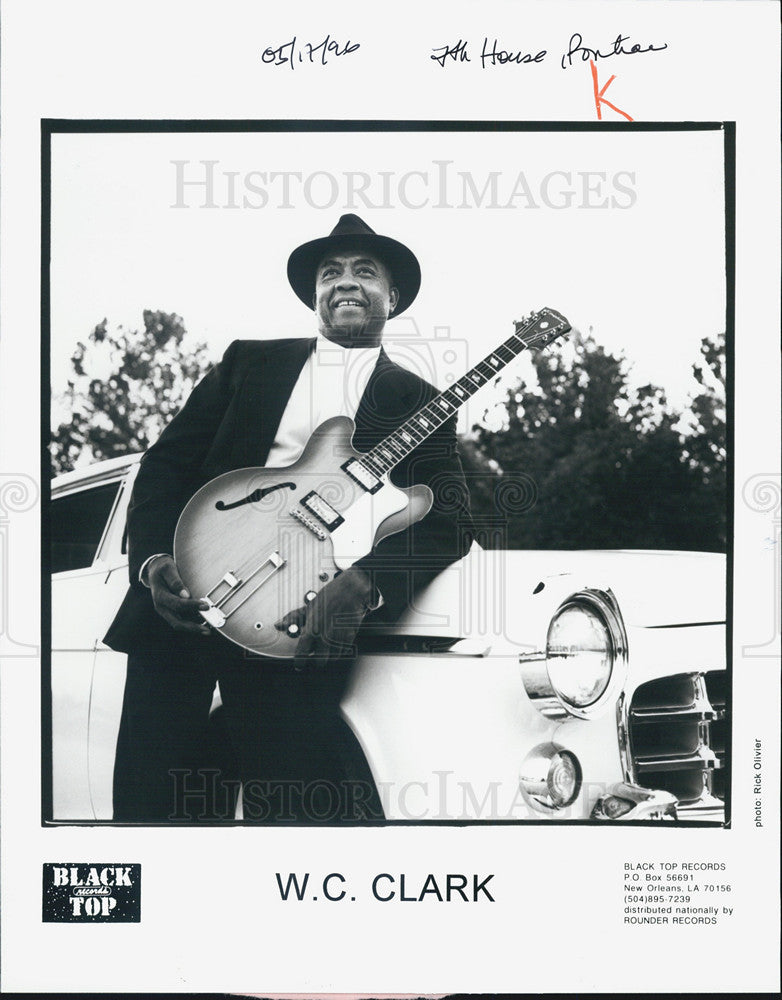 Press Photo W.C. Clark Musician - Historic Images
