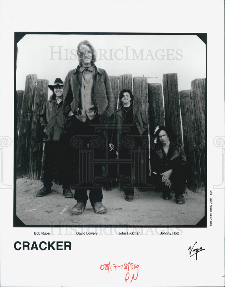 1996 Press Photo Band Cracker,Bob Rupe,David Lowery,John Hickman,Johnny Holt - Historic Images