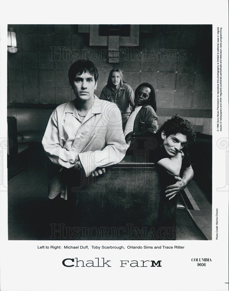 Press Photo Chalk Farm Michael Duff Toby Scarbrough Orlando Sims Trace Ritter - Historic Images