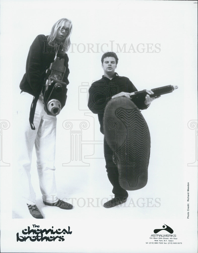 Press Photo Musical Group The Chemical Brothers - Historic Images