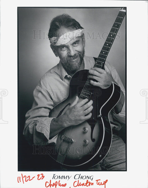1923 Press Photo Tommy Chong, Canadian-American comedian & musician - Historic Images