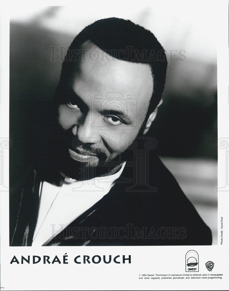 1994 Press Photo Musician Andrae Crouch - Historic Images