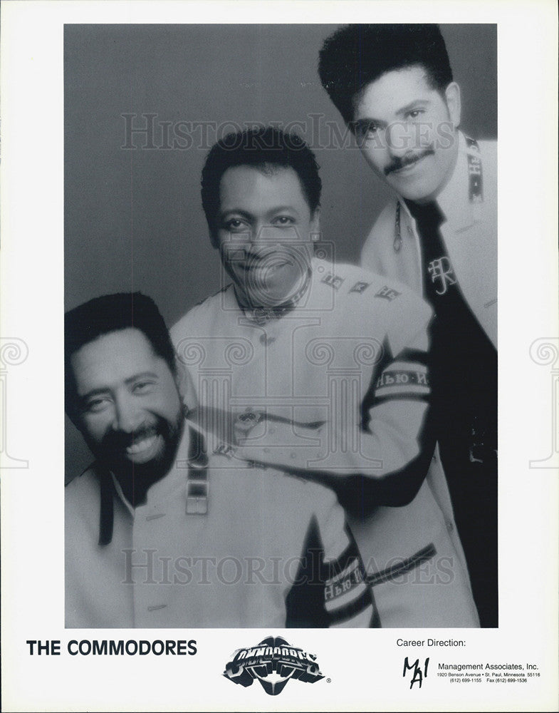 Press Photo Singing Group The Commodores - Historic Images