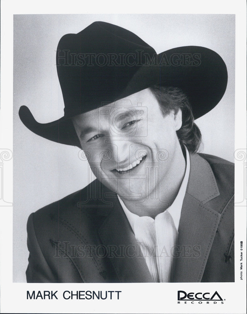 Press Photo Country Singer Entertainer Musician Mark Chesnutt - Historic Images