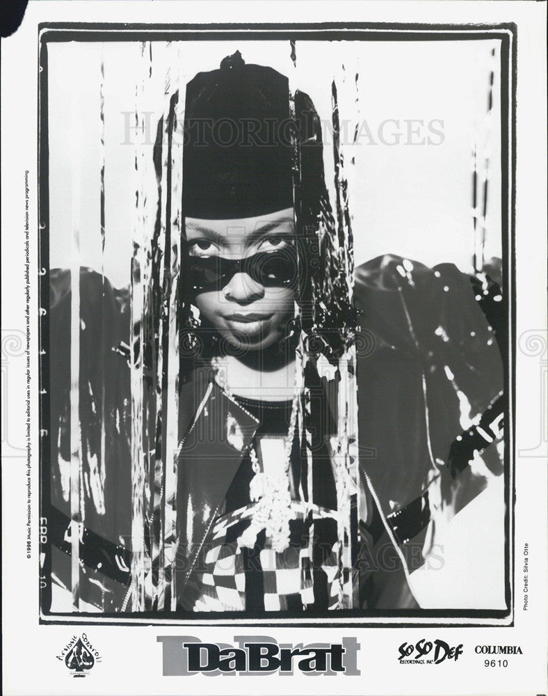 1996 Press Photo DaBrat, American rapper and actress, of SoSo Def Recordings Inc - Historic Images