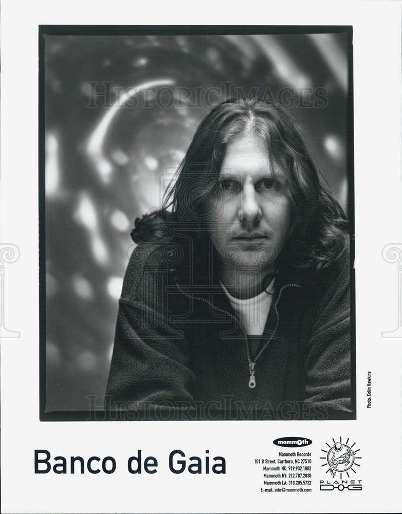 Press Photo Banco de Gaia Electronic Music Band Founded By Toby Marks - Historic Images