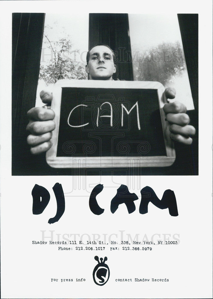 Press Photo Dj Cam - Historic Images