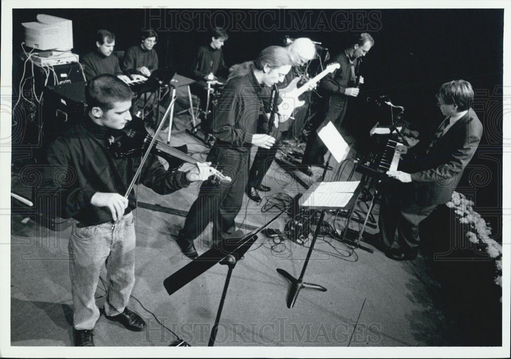 "Press Photo U of Michigan ""Downtown Sounds - Historic Images"