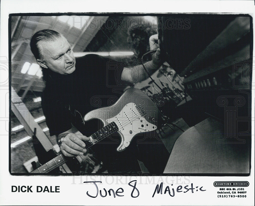 1995 Press Photo of musician Dick Dale - Historic Images