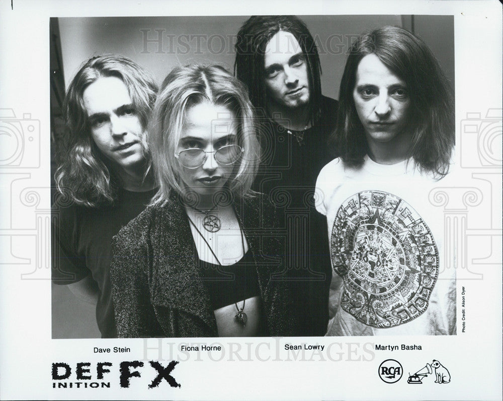 Press Photo Def FX  an Australian industrial-dance-rock group, formed in Sydney. - Historic Images