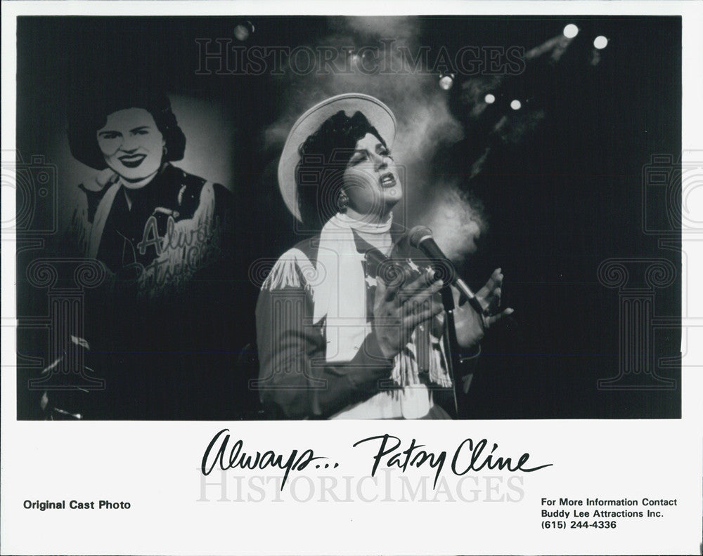 Press Photo Pasy Cline  an American country music singer. - Historic Images