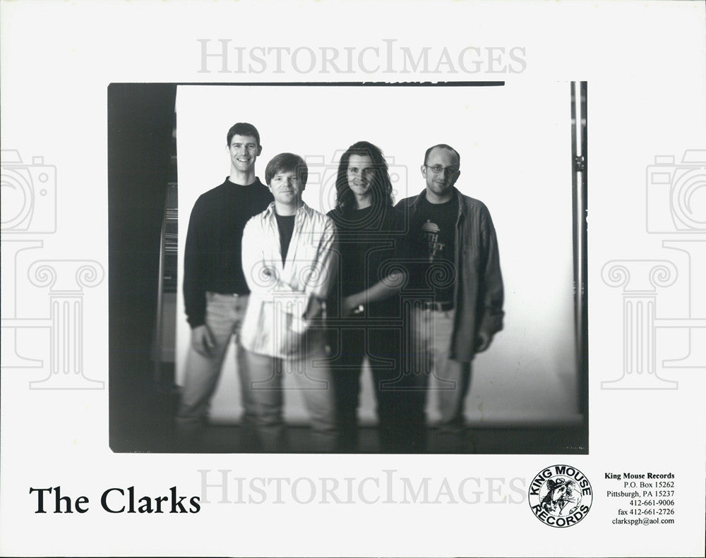 Press Photo The Clarks King Mouse Records - Historic Images