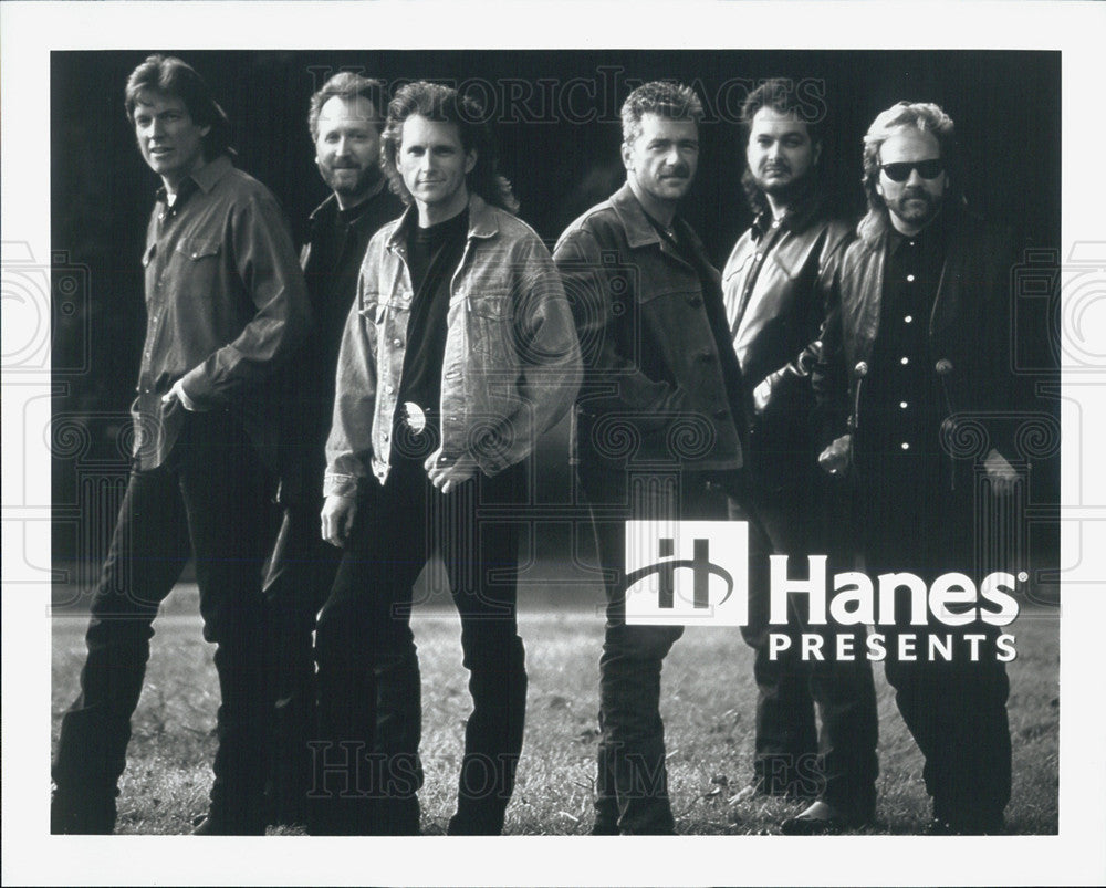 Press Photo Hanes Advertisement With Men Posing In Western Attire - Historic Images
