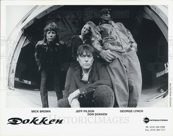 "Press Photo Mick Brown, Jeff Pilson, Don Dokken and George Lynch in ""Dokken: - Historic Images"