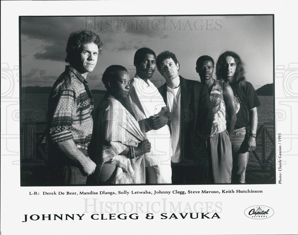 1993 Press Photo Johnny Clegg and Savuka - Historic Images