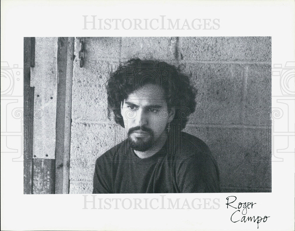 Press Photo Musician Roger Campo - Historic Images