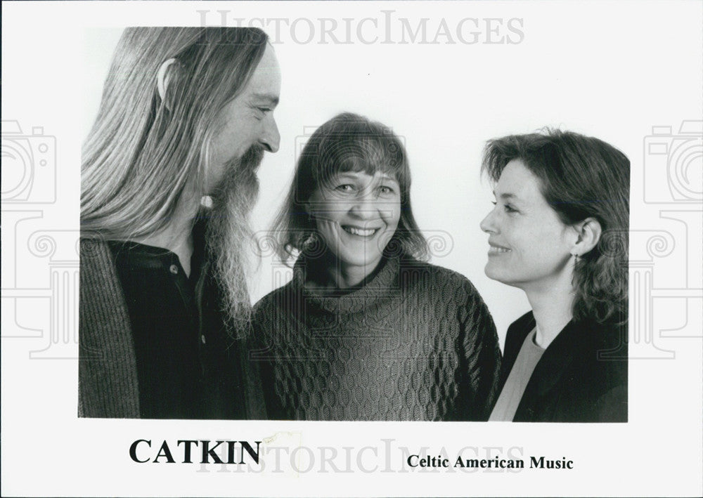 Press Photo of Celtic American Music group CATKIN - Historic Images