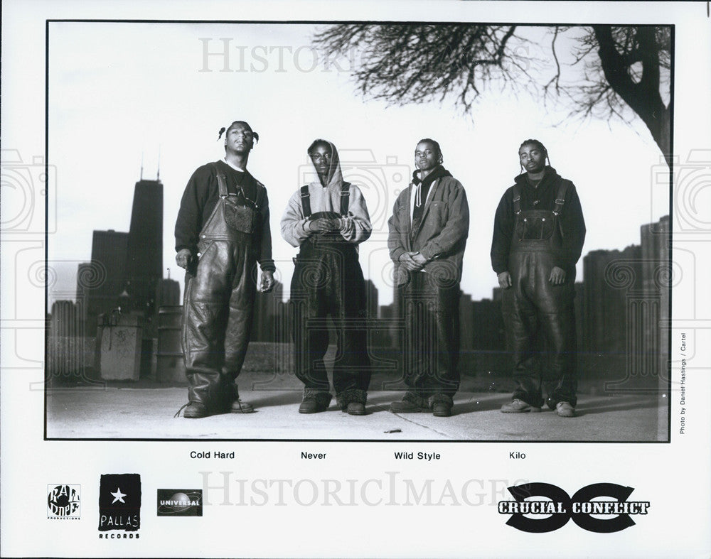 Press Photo Crucial Conflict Members Include Cold Hard Never Wild Style And Kilo - Historic Images