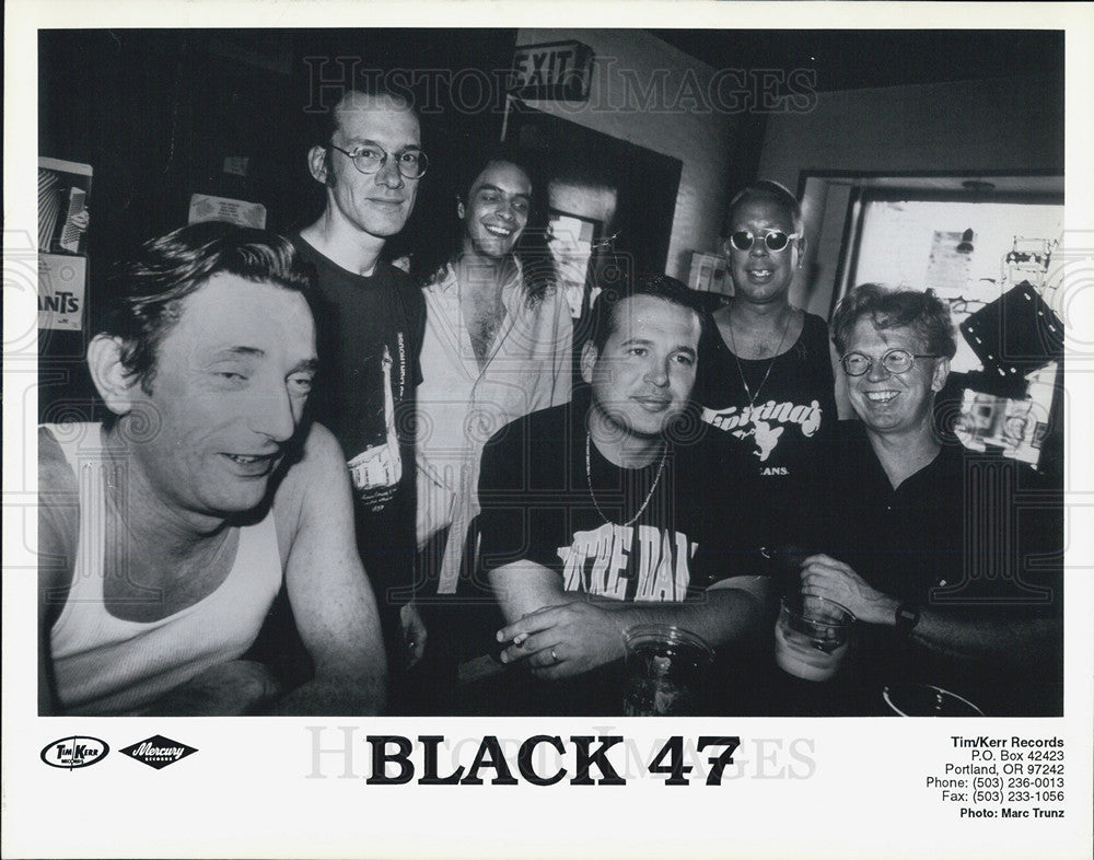 Press Photo of New York City based celtic rock band BLACK 47 - Historic Images