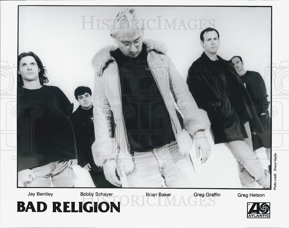 Press Photo Jay Bentley, Bobby Schayer, Brian Baker, Greg Graffin and Greg - Historic Images