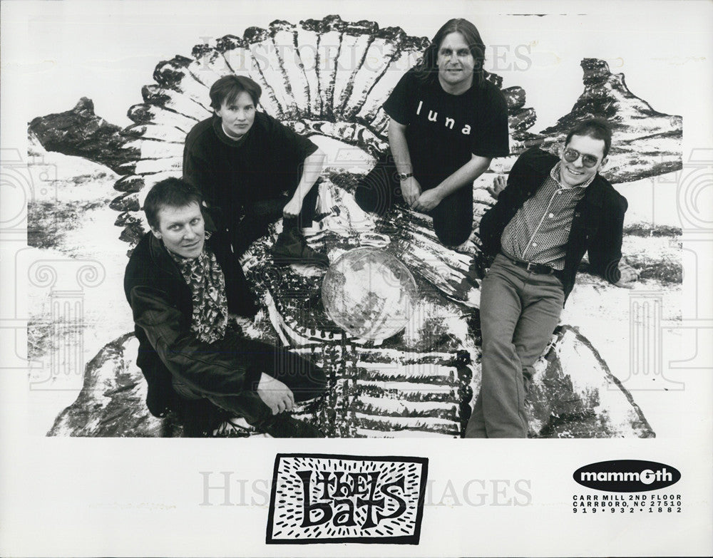 Press Photo of New Zealand rock band The Bats - Historic Images