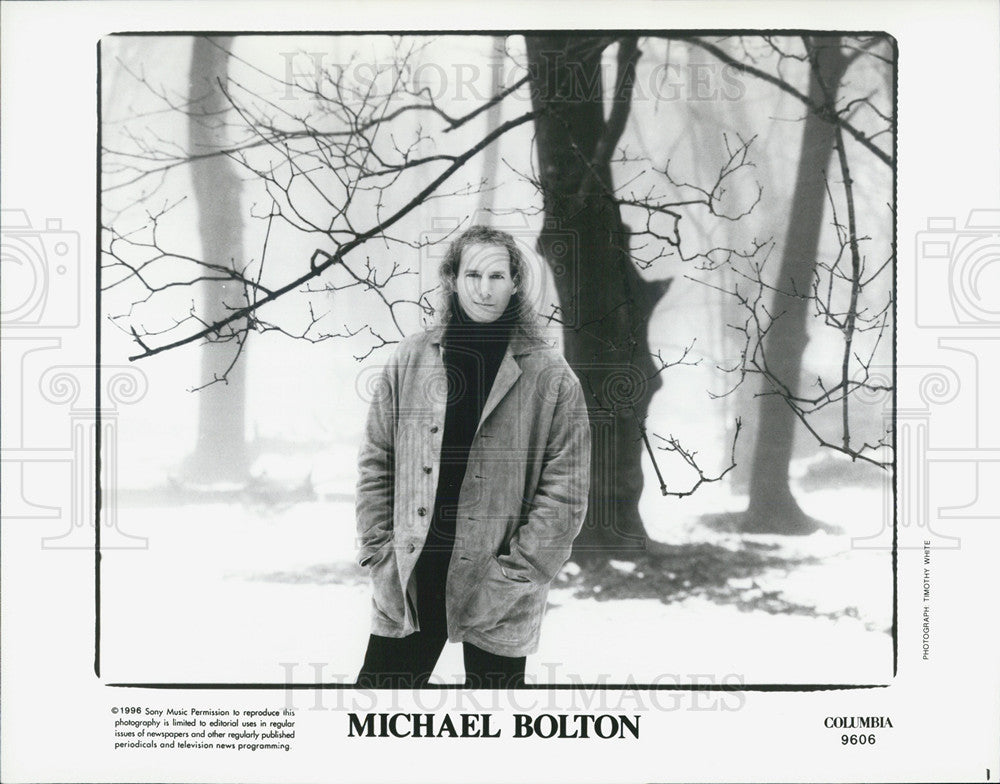 1996 Press Photo Michael Bolton - Historic Images