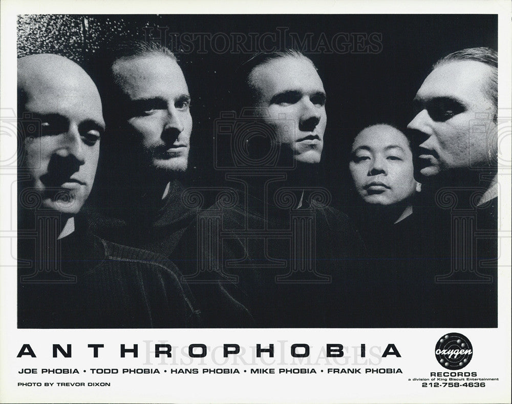 Press Photo Music Group Anthrophobia - Historic Images