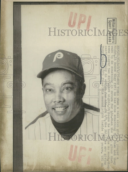 1975 Phillies Ball Club Player Tony Taylor - Historic Images
