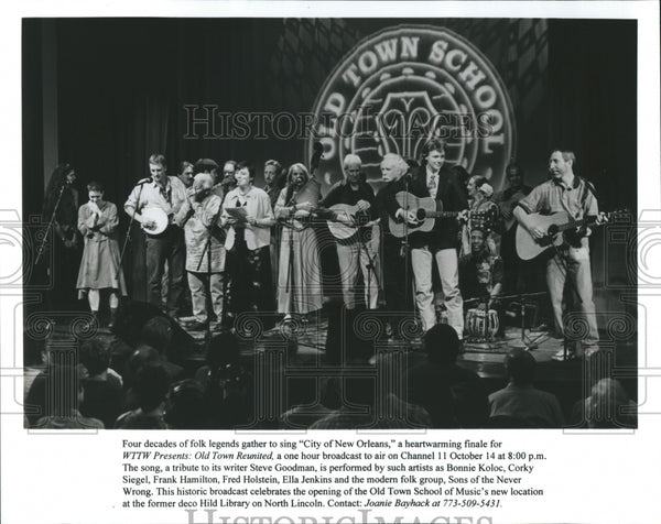 "Old Town Reunited Sings ""City of New Orleans"" - Historic Images"